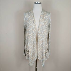 Logo By Lori Goldstein Floral Cardigan Open Front